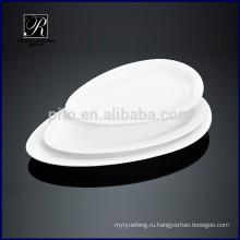 Керамические плиты обеденного стола овальной пластины