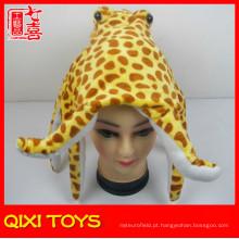 ponto recheado Octopus hat plush Octopus animal head hat