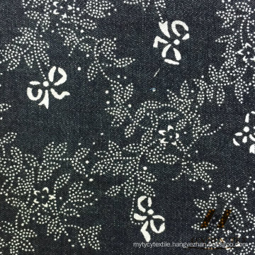 100% Cotton Printed Indigo Denim