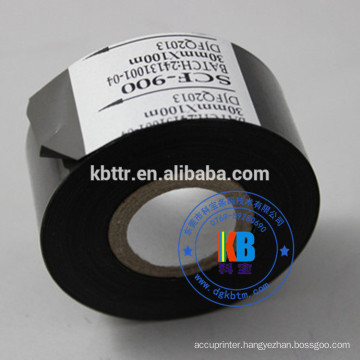 SCF900 hot stamping foil date code ribbon for abs plastic leather printing