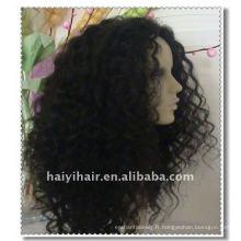 Stock En Gros 100% Remy Indien perruque de cheveux humains
