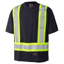 Black Bottom Hi-Viz biocolor Camisa de seguridad Wicking