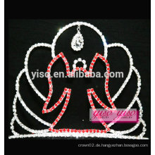 Benutzerdefinierte Haare sortiert Designs Tier rot angela Kristall Tiara