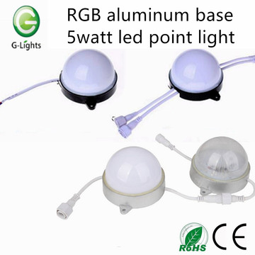 RVB base en aluminium 5watt led point light