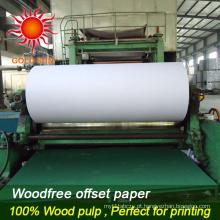 Papel 100% sem papel de impressão sem revestimento