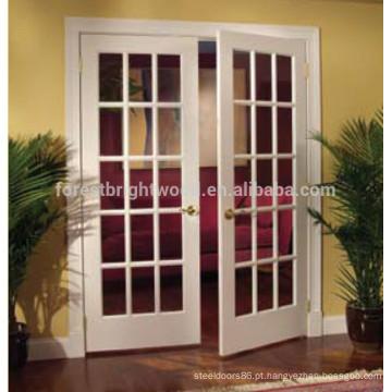 Mais popular design de porta interior francesa de madeira