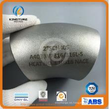 Instalación de tuberías de codo de acero inoxidable Lr 45D con TUV (KT0290)