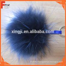 Low Price wholesale Raccoon Fur Pom Pom Keychain