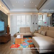 Latest Europe interior white PVC plantation window shutters