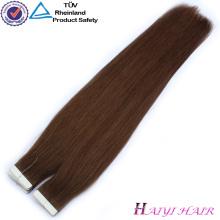 100 Duplo Desenhado Cabelo Humano Exthand amarrado virgem remy indiano cabelo weftension mão amarrado trama do cabelo remy indiano virgem