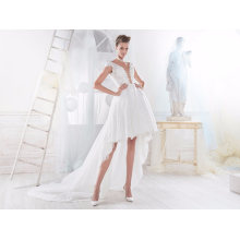 Hot Sale Hi-Low Lace Short Wedding Bridal Gown