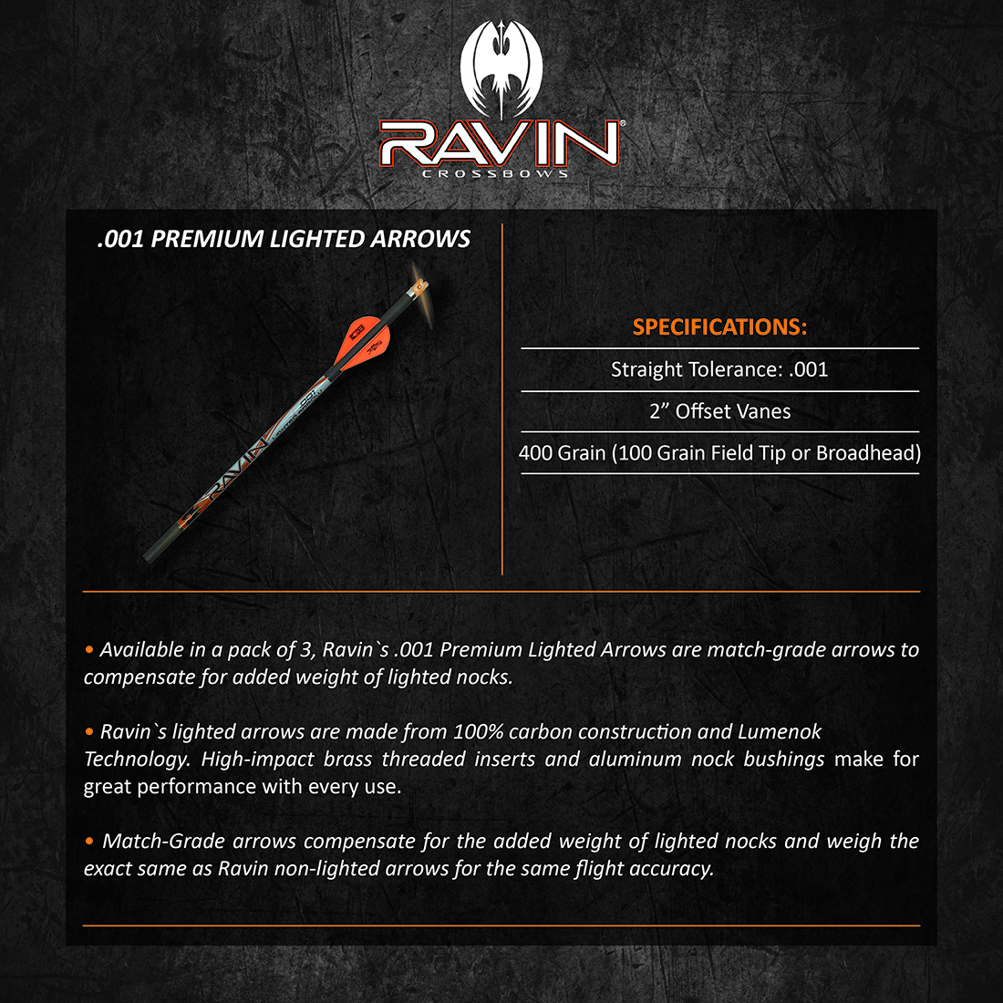 Ravin_001_Premium_Match_Grade_Lighted_Arrows_Product_Description