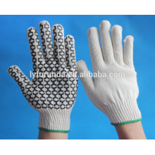 Anti-skidding gloves,cotton knitting gloves with pvc dots on palm one side