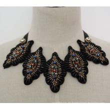 Damen Kristall Mode Kostüm Halsband handgemachte Halskette Kragen (JE0022)