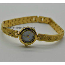 Vogue Gold Watch Small Wrist Ladies Bracelet Watches Brass Quartz