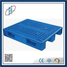 Синий дешевый переработанный 4-полосный доступ Сверхмощный стековый пластиковый поддон
