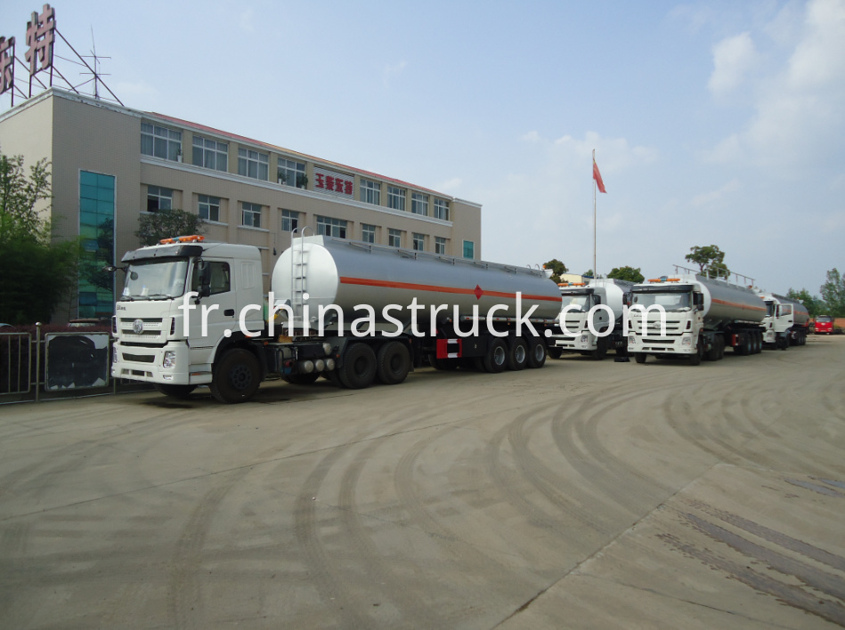 3 axle stainless steel ADR oil tank semi-trailer