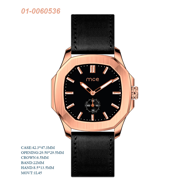 Luxury Business Stainless Steel Case Back Water  Resistance Quartz Watch