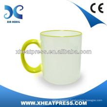 cheap 11oz Rim Color Sublimation Ceramic Mug for Heat Transfer