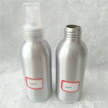 Bouteille en aluminium cosmétique 120ml avec pulvérisateur de brume blanche