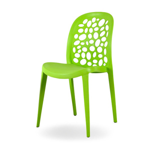 Full polypropylene plastic stackable chair