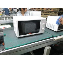 20L 700 watt white manual table top microwave oven