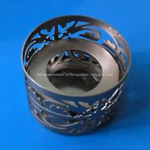 Suporte de vela de luz de chá de fio de metal
