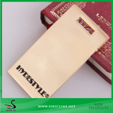 Sinicline Zinc Metal Tag With Black Paint Brand Logo For Leather Garment