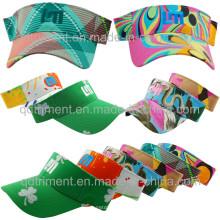 Moda colorida design tecido lazer dom viseira (TMV9508-1)