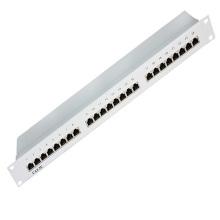 Высококачественная экранированная коммутационная панель Cat5e с 24 портами