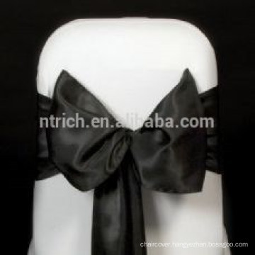 Cheap and Superb Black Satin chair sash, chair ties, wraps for wedding banquet hotel
