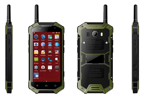 IP68 Walkie Talkie Droid Indestructible Phone
