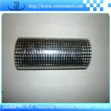 Cilindro de filtro de malha de arame perfurado de aço inoxidável