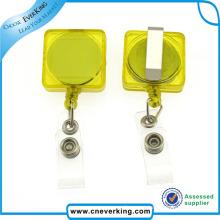2016 Hot Selling New Design Plastic Carabiner Badge Reels