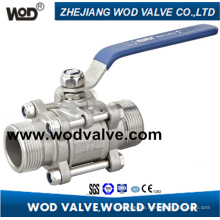 3 PC Male Thread Ball Valve