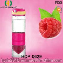 Botella de agua colorida de cristal de la infusión de la fruta de 2016 BPA (HDP-0629)