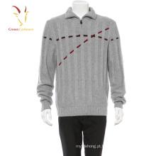 Camisola de pulôver de homens de camisola de caxemira Intarsia de homens de camisola de moda quente de inverno dos homens