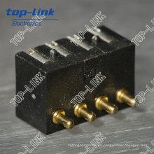 Conector de 4 pines con muelle Pogo Pin (conector de batería del teléfono móvil)