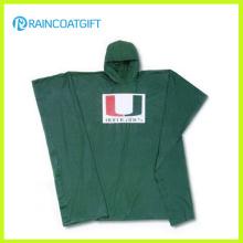 Capa de chuva impressa do PVC do logotipo para a promoção
