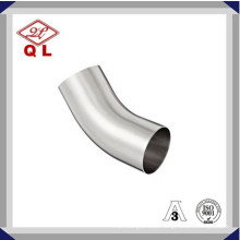 304/316L Sanitary Stainless Steel 45 Degree Long Welded Elbow