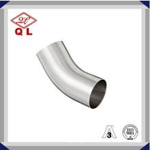 304 / 316L Санитарная нержавеющая сталь 45 градусов длинное сварное колено