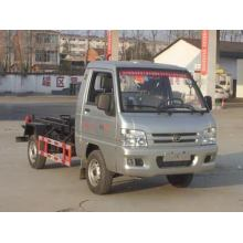FOTON 3CBM Gasoline Hook Lift شاحنة القمامة