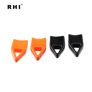 RHI pvc hanger top end caps . vinyl hook end cap for steel rod. plastic end caps and closures