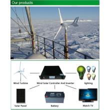 300W Dach montiert Camping Wind Turbine 0.3kw für die Überwachung