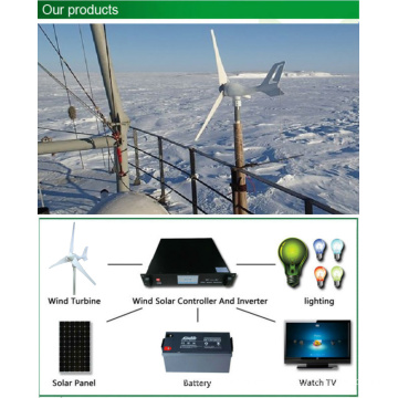 300W Roof Mounted Camping Wind Turbine 0.3kw for Monitoring