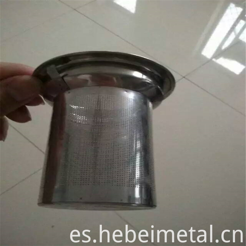 a stainless steel filter cartridge (13)