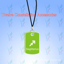 Colorful Twelve Constellations Silicone Pendants With Embossed / Debossed Logo