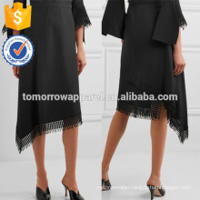 New Fashion Lace-trimmed Asymmetric Wool-crepe Summer Daily Skirt DEM/DOM Manufacture Wholesale Fashion Women Apparel (TA5101S)