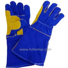 Gants renforcés à double gants en cuir de levure Gants de soudure Gant de travail