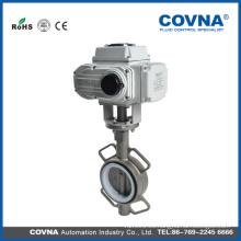 Válvula de agua eléctrica 12v Válvula de mariposa eléctrica motorizada con acero inoxidable
